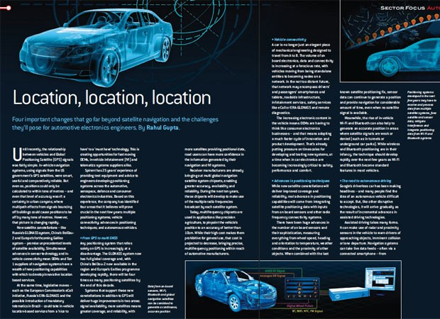 Spirent: B2B magazine article writing (automotive)