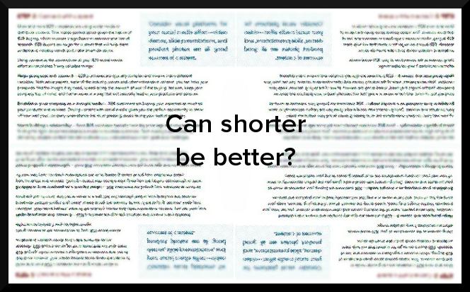 Should B2B marketing content be long or short?