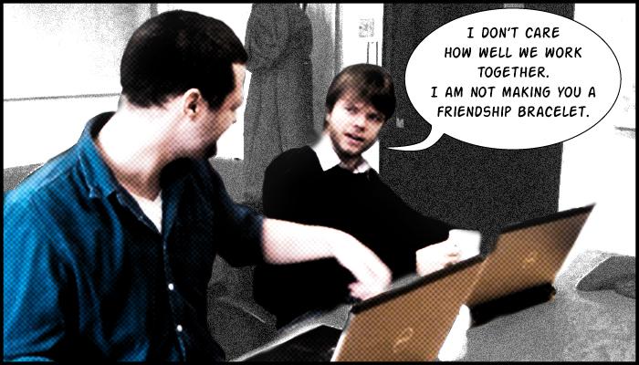 Radix writing experiment: pair copywriting