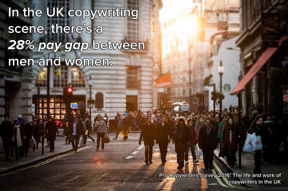 Female copywriters respond to copywriting's gender pay gap