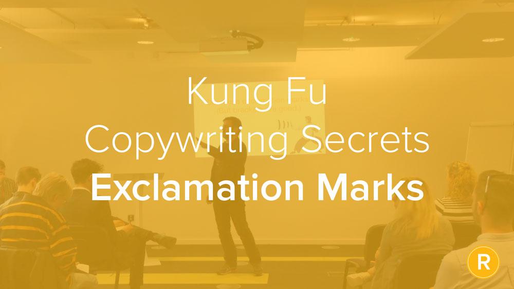 Kung Fu Secrets of B2B Copywriting: Exclamations Bad! (Brackets Good.)