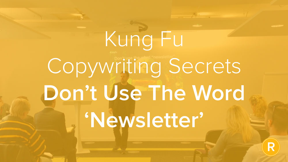 Kung Fu Secrets of B2B Copywriting: Don't Call It a Newsletter