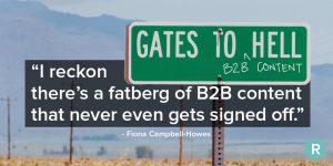 B2B Content Fatberg