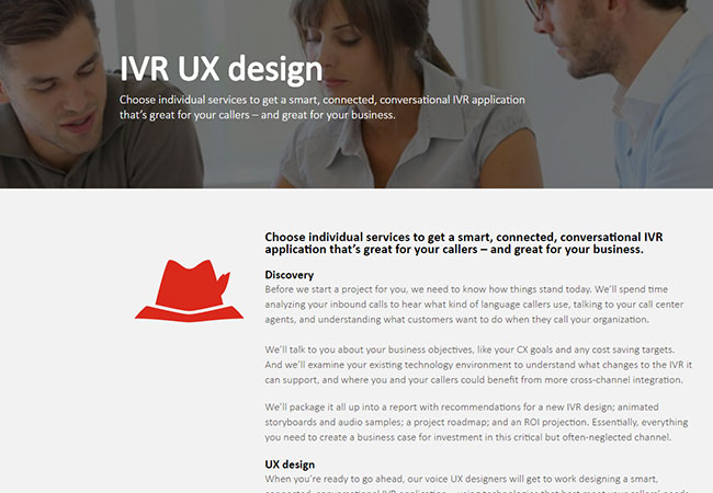 VoxGen: IVR website copywriting